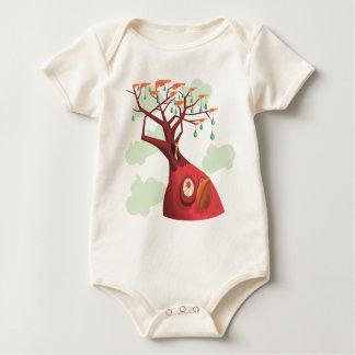 Bebé del árbol frutal body para bebé