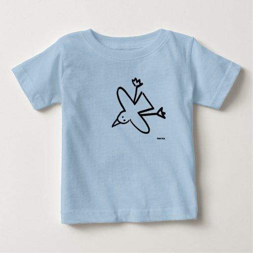 Bebé del arte: Dibujo de la gaviota el tintóreo de Tee Shirt