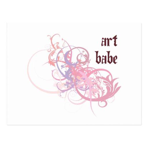 Bebé del arte postales