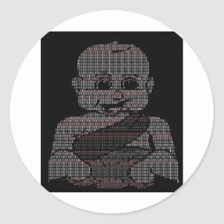 Bebé del ASCII Pegatinas Redondas