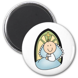 Bebé del bautismo imán redondo 5 cm