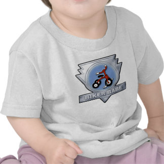 Bebé del bebé del motorista camisetas