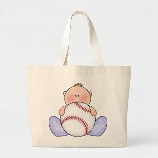 Bebé del béisbol de Lil Bolsa Tela Grande