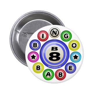 Bebé del bingo B8 Pin Redondo De 2 Pulgadas