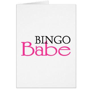 Bebé del bingo tarjeta de felicitación