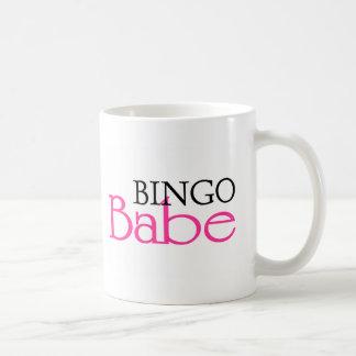 Bebé del bingo taza básica blanca