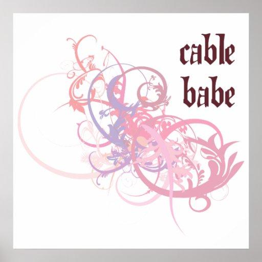 Bebé del cable posters