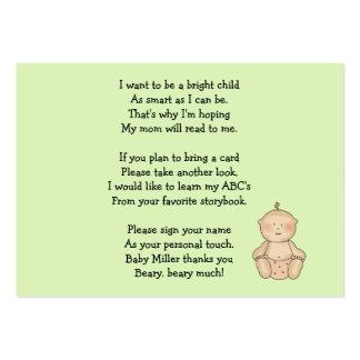 Bebé del carro de bebé solamente tarjetas de visita grandes