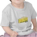 bebé del cheesehead camisetas