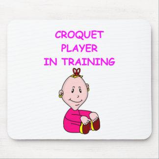 bebé del croquet alfombrillas de ratón