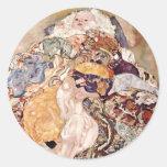 Bebé del ~ de Gustavo Klimt Pegatinas Redondas