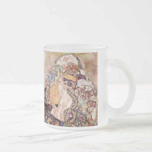 Bebé del ~ de Gustavo Klimt Taza De Café