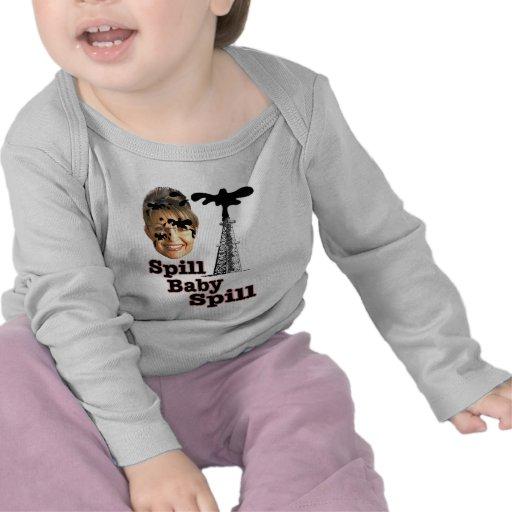 bebé del derramamiento camisetas