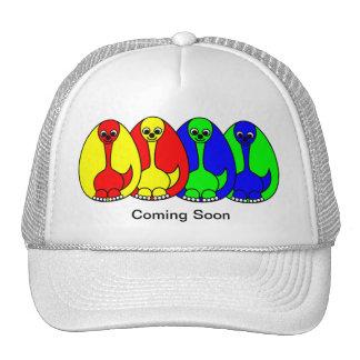 Bebé del dinosaurio - viniendo pronto gorros bordados