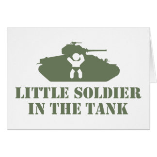 Bebé del ejército tarjetón