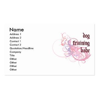 Bebé del entrenamiento del perro tarjetas de visita