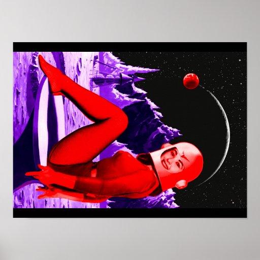 Bebé del espacio póster