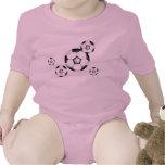 bebé del fútbol: bolas y rosa trajes de bebé