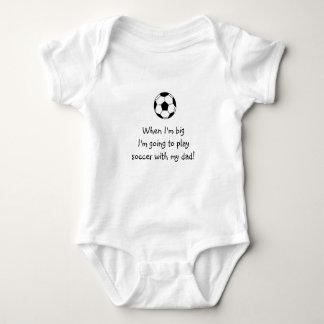 Bebé del fútbol mameluco de bebé