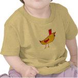 Bebé del gallo camiseta