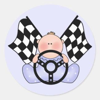 Bebé del ganador de la raza de Lil Pegatina Redonda