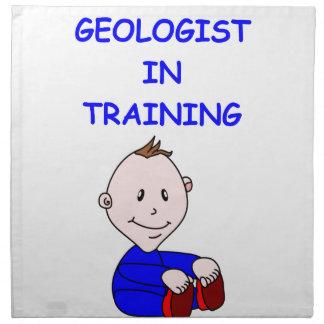 bebé del geólogo servilleta de papel