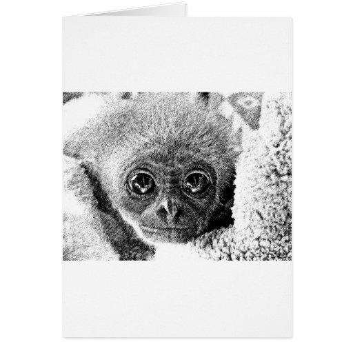Bebé del Gibbon Tarjeta De Felicitación