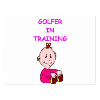 bebé del golf tarjetas postales