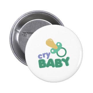 Bebé del grito chapa redonda 5 cm