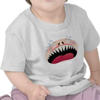 Bebé del grito que echa los dientes - camiseta div