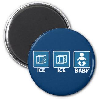 Bebé del hielo del hielo imán redondo 5 cm