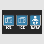 Bebé del hielo del hielo pegatina rectangular