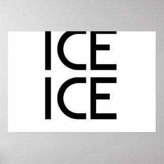 Bebé del hielo del hielo póster