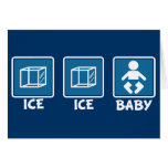 Bebé del hielo del hielo tarjetón