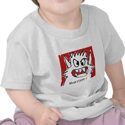 Bebé del humor del monstruo del dibujo animado de  camiseta