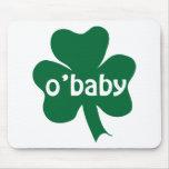 Bebé del irlandés del trébol de O'Baby Tapete De Ratón