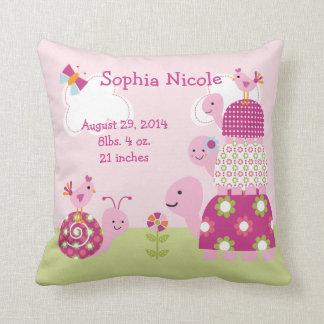 Bebé del jardín/recuerdo personalizados de la almohadas