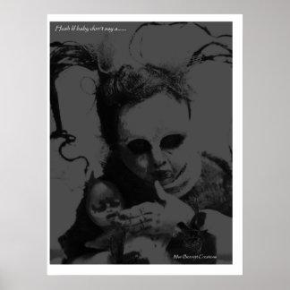 Bebé del lil del silencio ..... póster