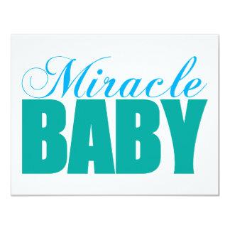 Bebé del milagro invitación 10,8 x 13,9 cm