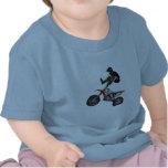 bebé del motocrós camiseta