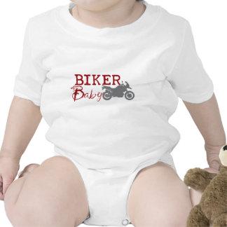 Bebé del motorista camiseta