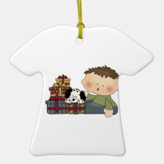 bebé del muchacho de los regalos de Navidad Adornos De Navidad