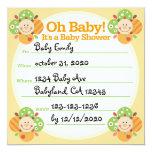 Bebé del naranja oh, invitación de la fiesta de
