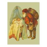Bebé del navidad del vintage tarjetas postales