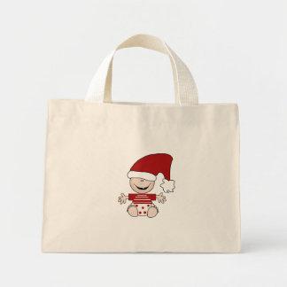 Bebé del navidad en camisetas y regalos del casqui bolsa tela pequeña