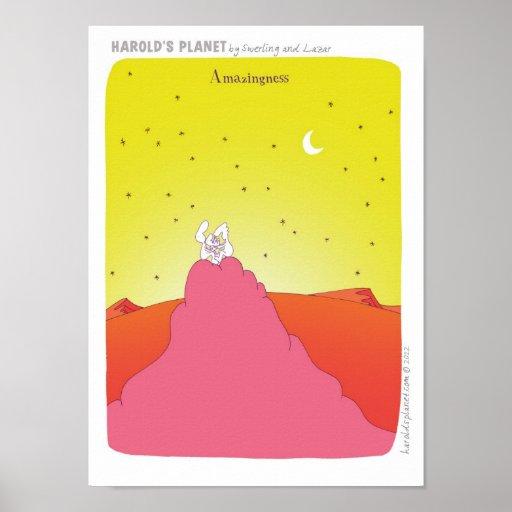 """""""Bebé del """"nuevo bebé"""" del PLANETA"""" de HAROLD Poster"""