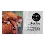Bebé del orangután tarjeta de visita