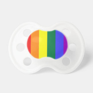 Bebé del orgullo gay del arco iris chupetes de bebé