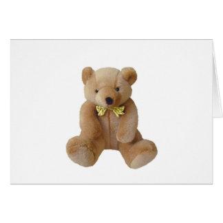 Bebé del oso de peluche que cuenta con amor de la tarjeta de felicitación