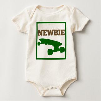 Bebé del patinador - Newbie (marrón/verde) Mamelucos